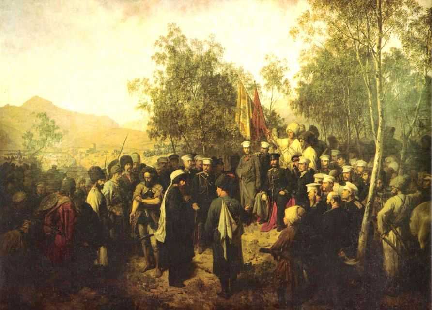 Horschelt._Surrender_of_Shamil._1863