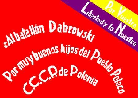 Флаг польского батальона тринадцатого интербригад имени Домбровского