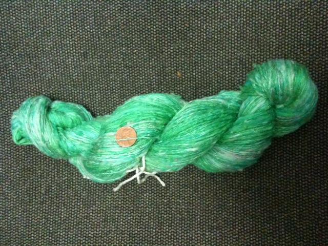 green silk skein