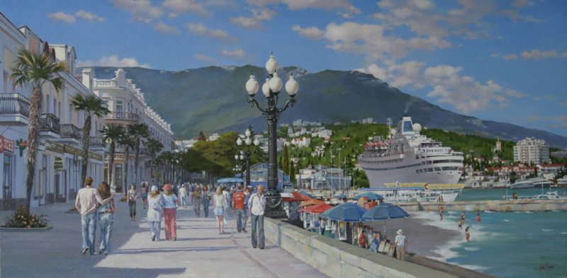 4_naberezhnaya_yalty._40-80sm_holst_maslo_2006_the_front_of_yalta_16-32_oil_canvas_2006