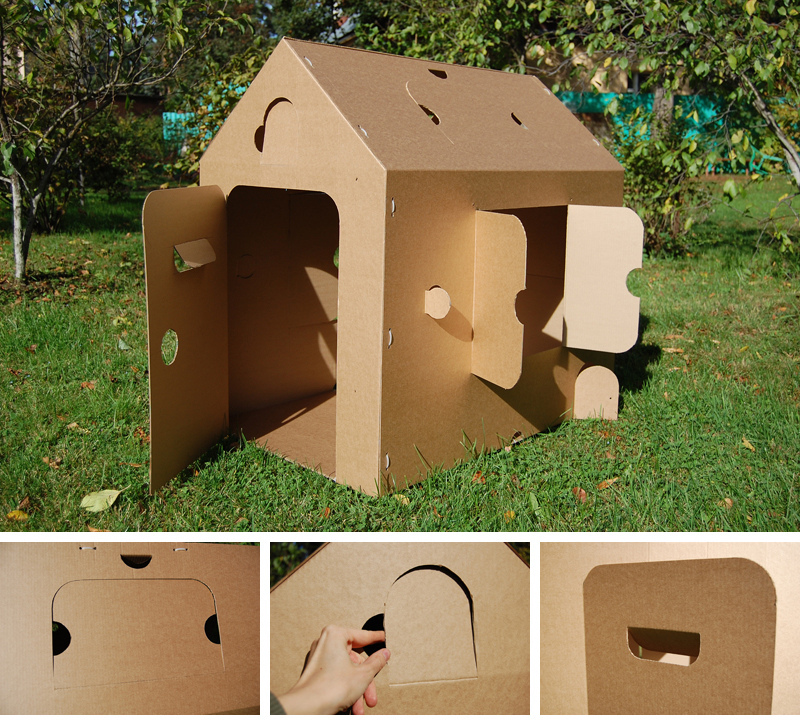 Сделать домик для ребенка своими руками из картона