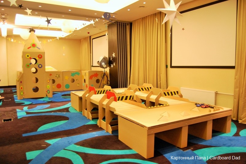 cardboard track for radio-controlled cars (2)