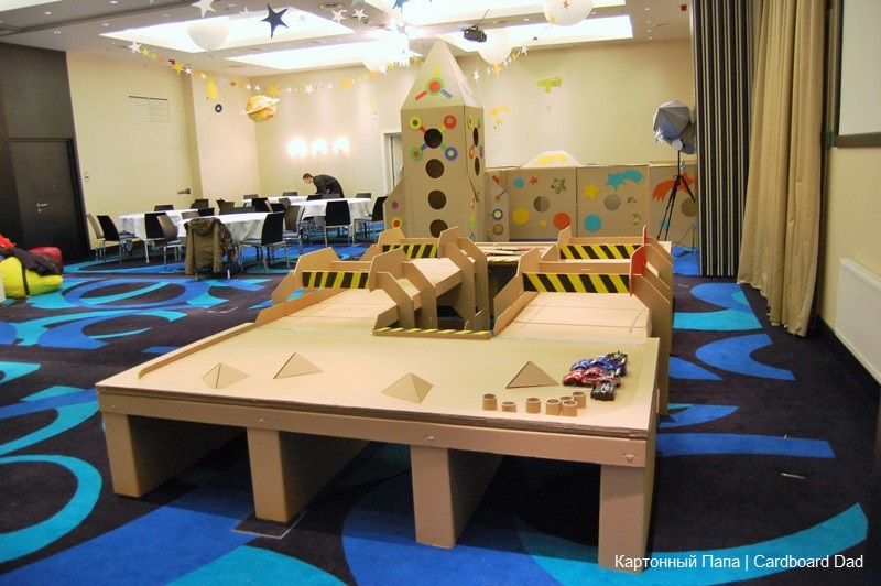 cardboard track for radio-controlled cars