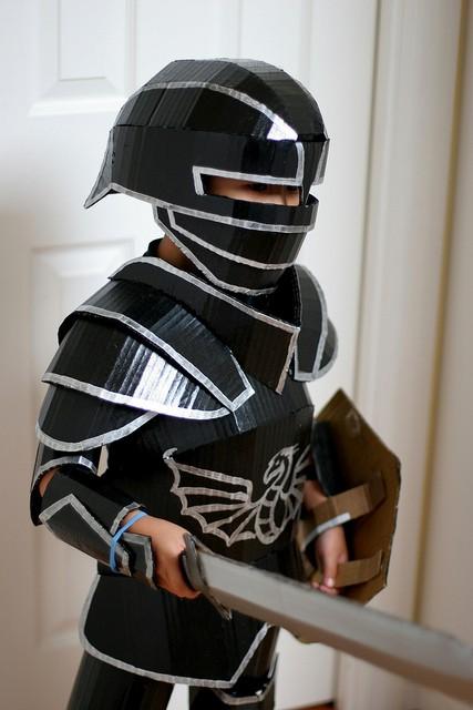 Cardboard-Knight-Costume-by-wrnking-via-Flickr