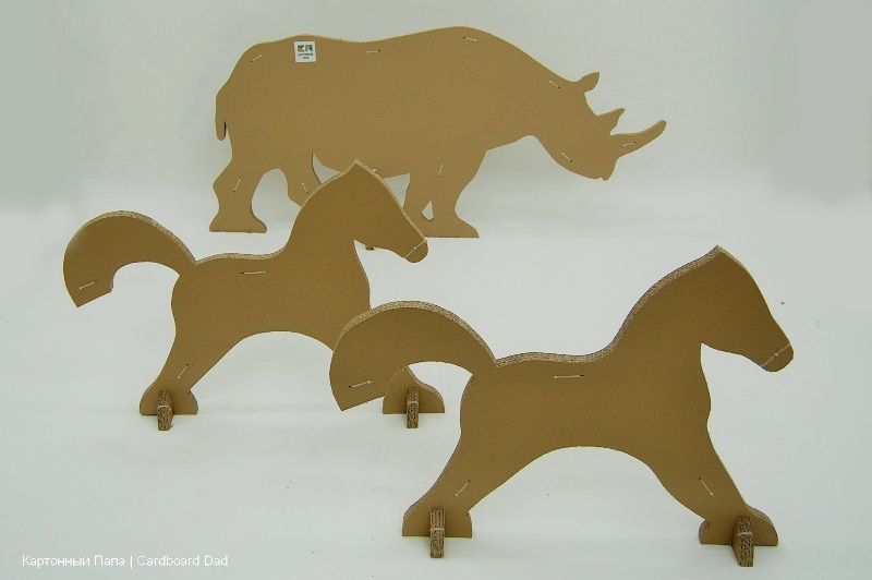Cardboard animals_07