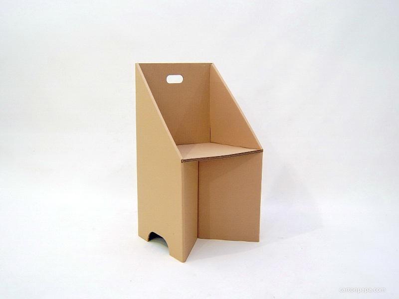 Как сделать стул из картон