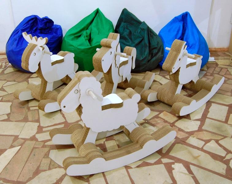 Cardboard horse ride