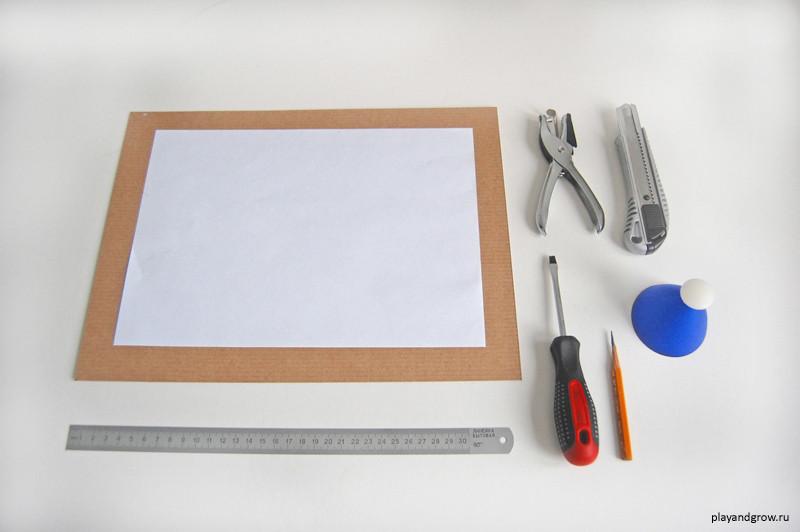Рамка из картона для детского рисунка своими руками