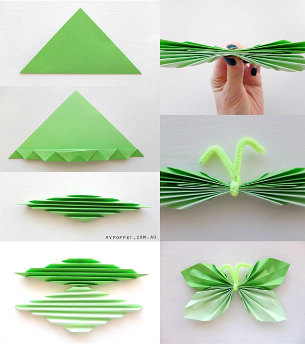 Сделать бабочку своими руками из бумаги фото