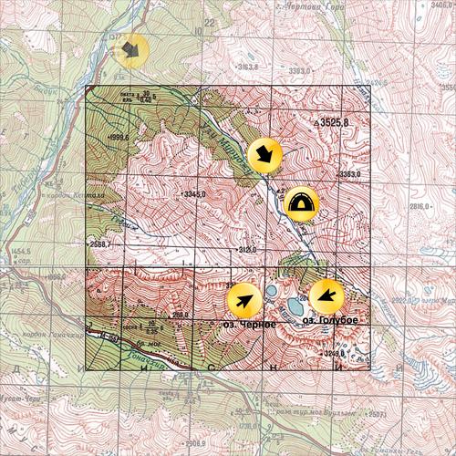 Карта Муруджинские озера
