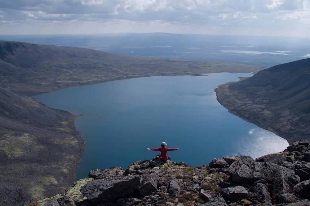 вид сверху озеро Райявр