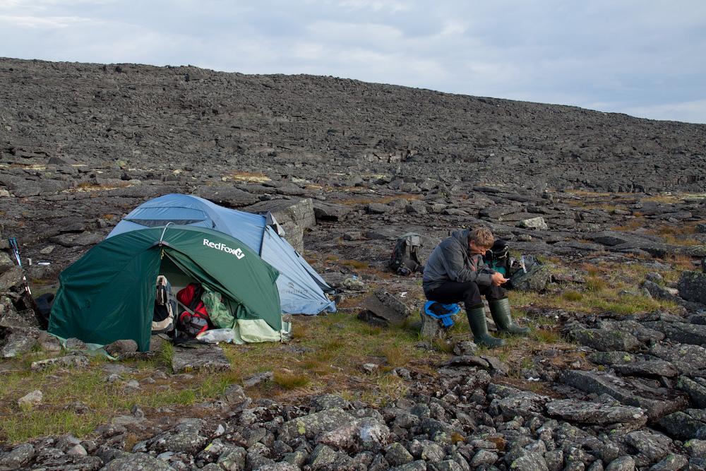 лагерь в истоках Уэлькуай