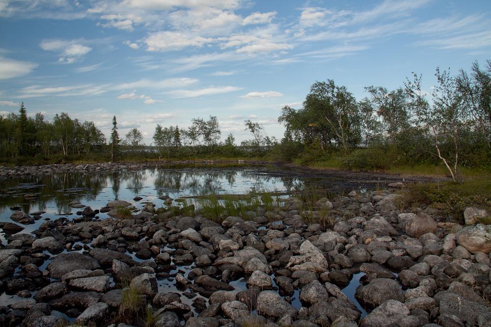 береговые запруды Умбозеро