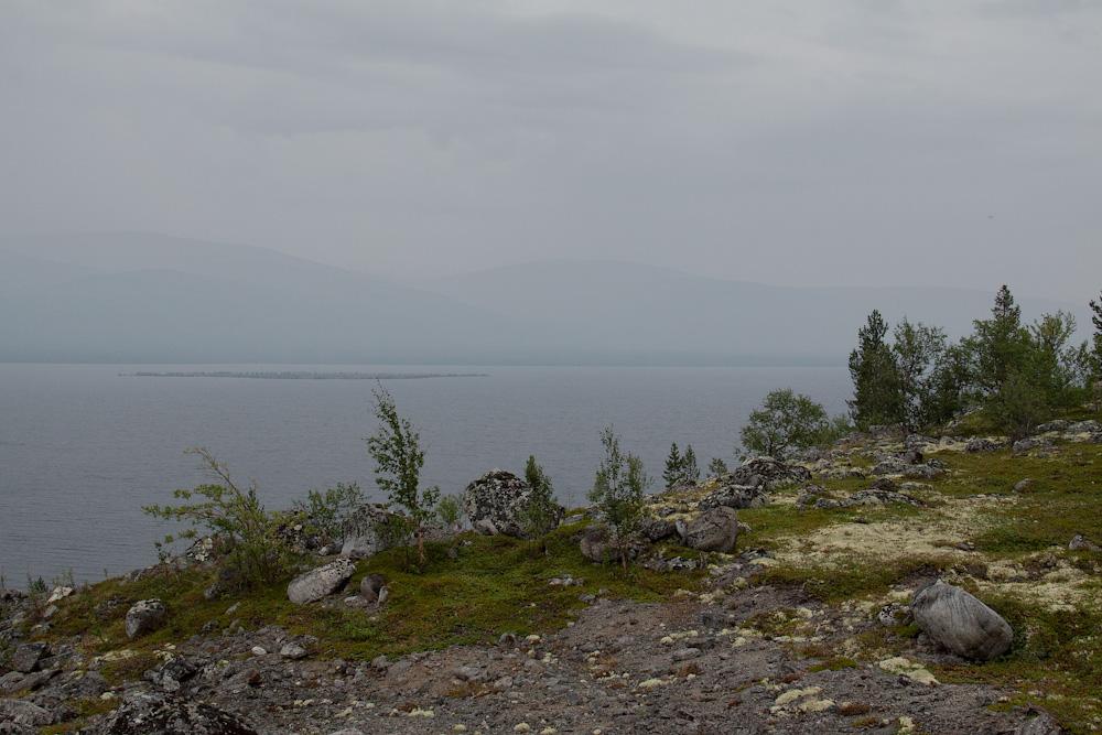 Умбозеро пасмурно