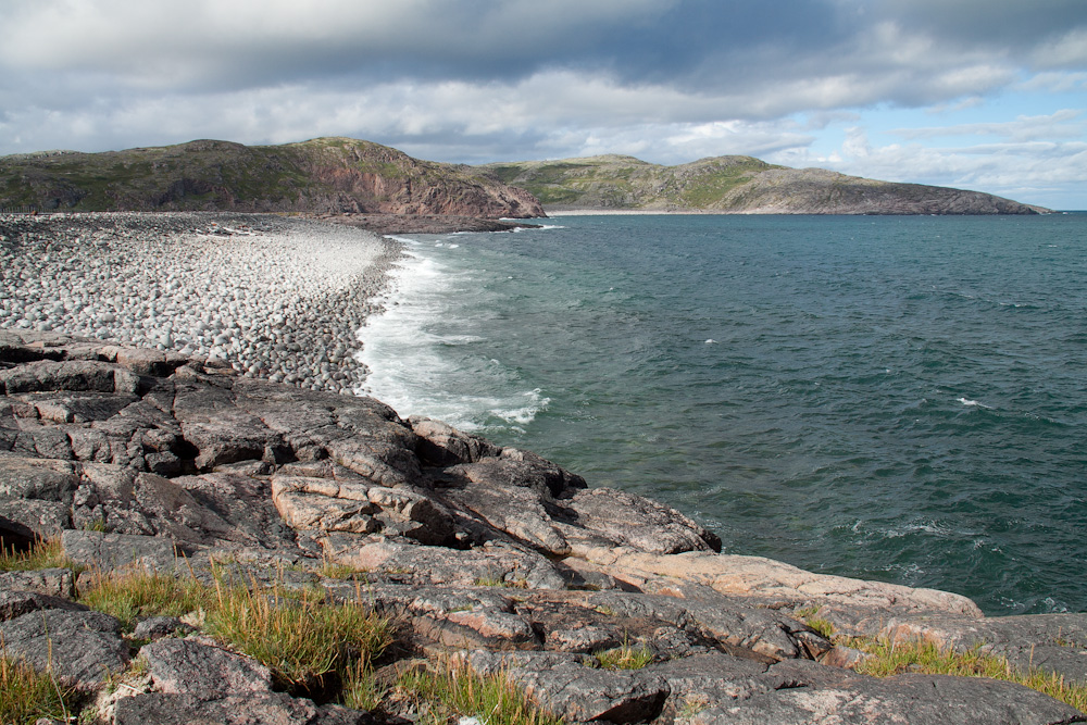 Териберка каменный пляж