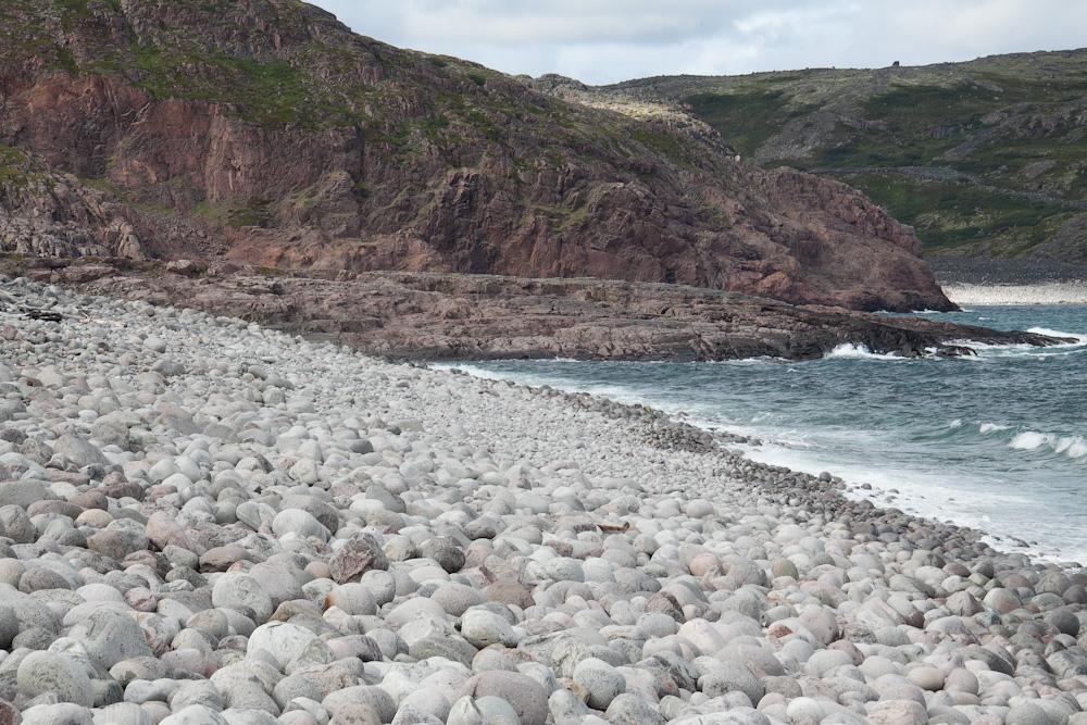 Териберка гранитный пляж
