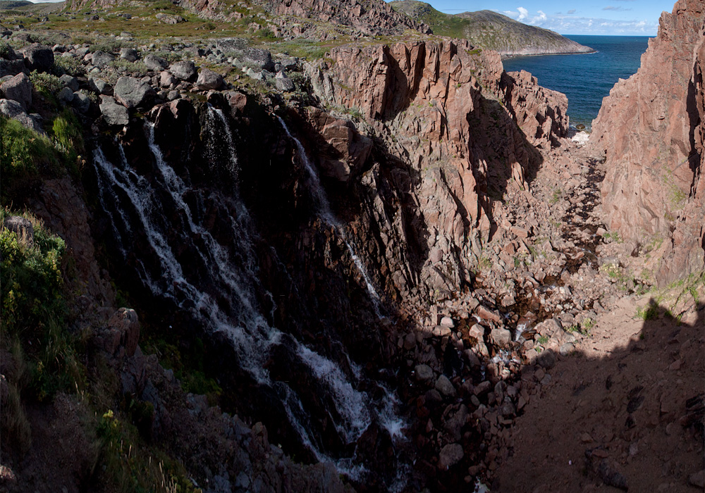 Териберка водопад