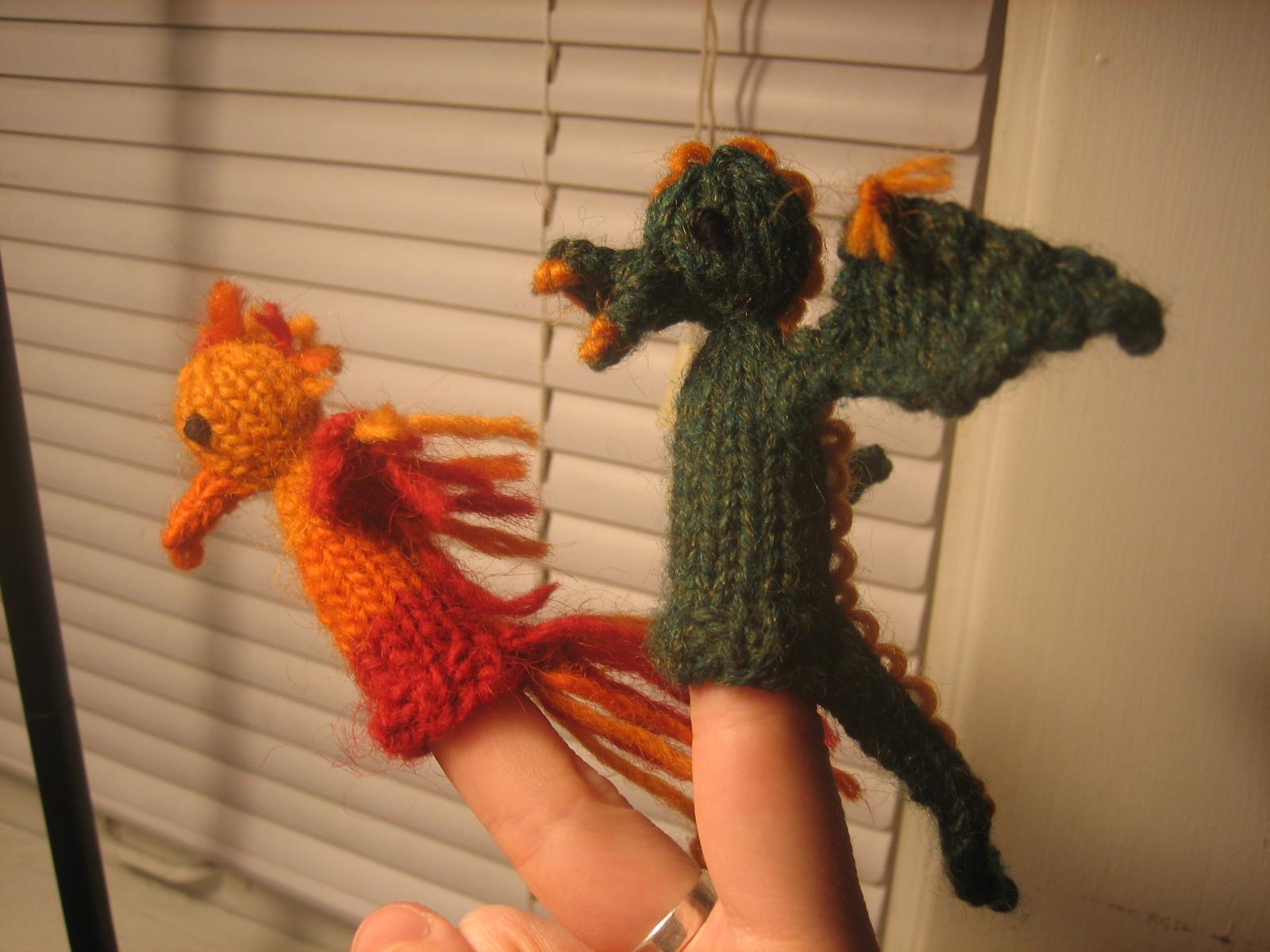 FO: Phoenix and Dragon: knitting