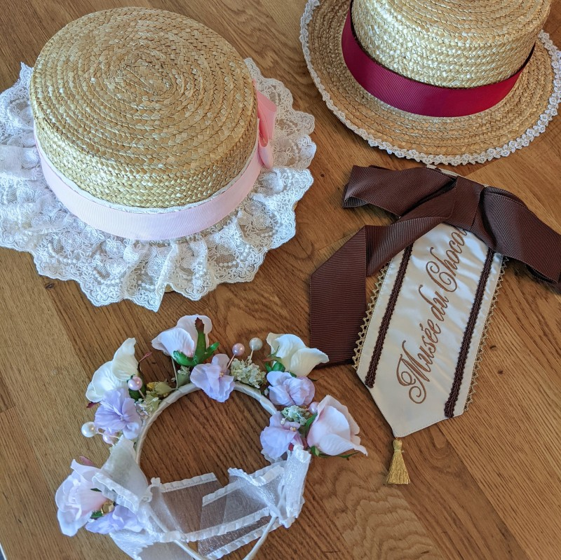 Hats from Taobao, flower crown by BTSSB, sash by AP