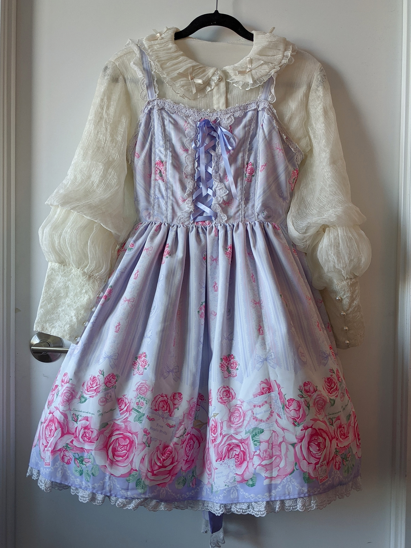 Romantic Rose Letter by Angelic Pretty, blouse from Taobao