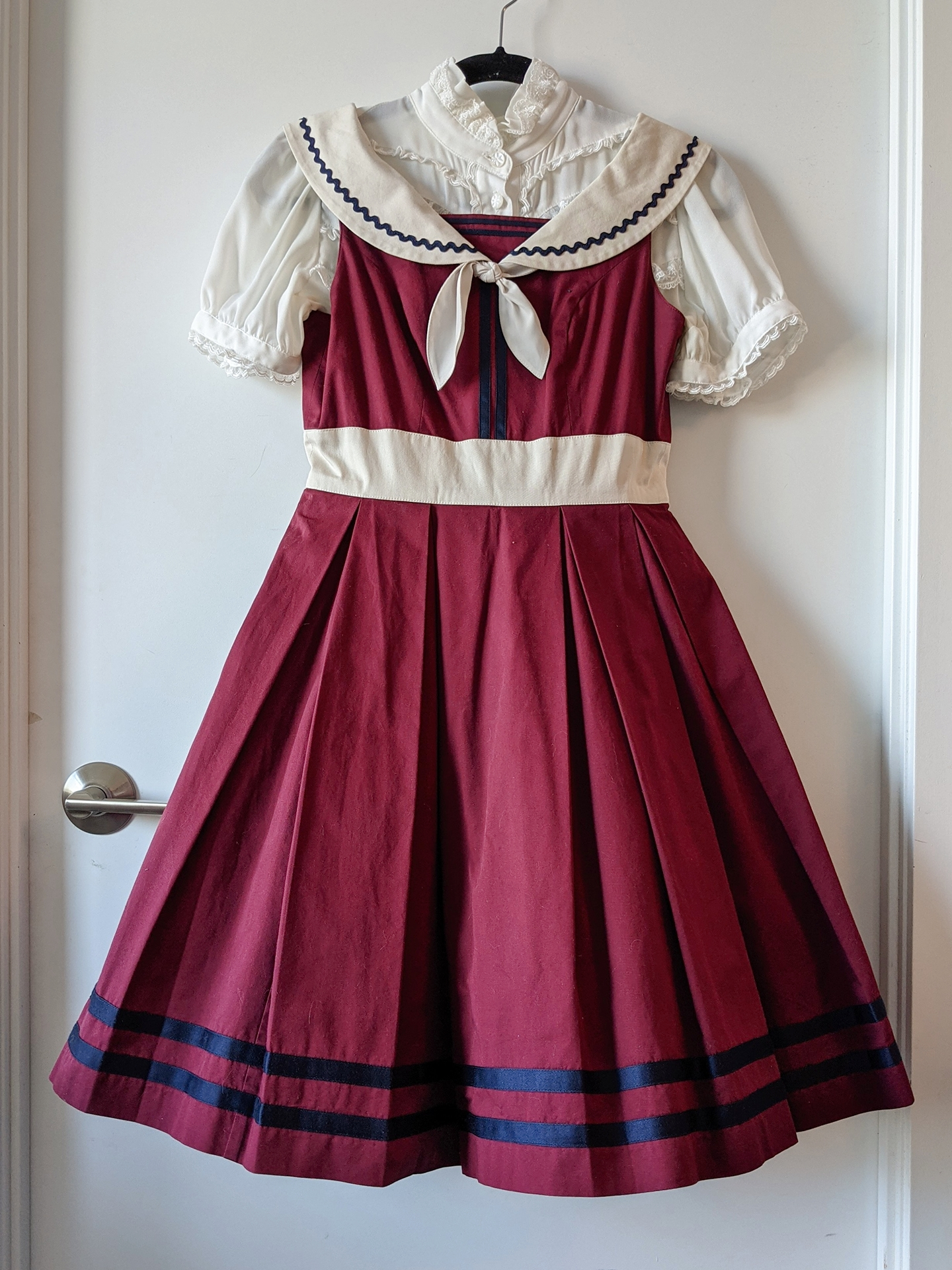 French Ribbon Marine by Victorian Maiden, blouse by Innocent World
