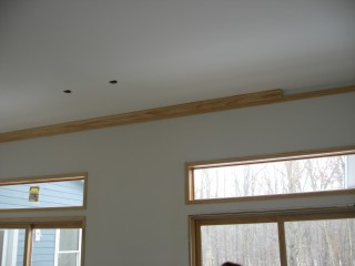 living room ceiling crown molding