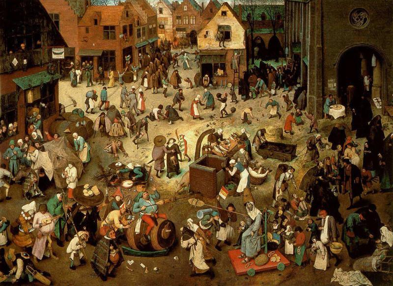 Pieter Bruegel der Ältere «Der Kampf zwischen Karneval und Fasten», 1559