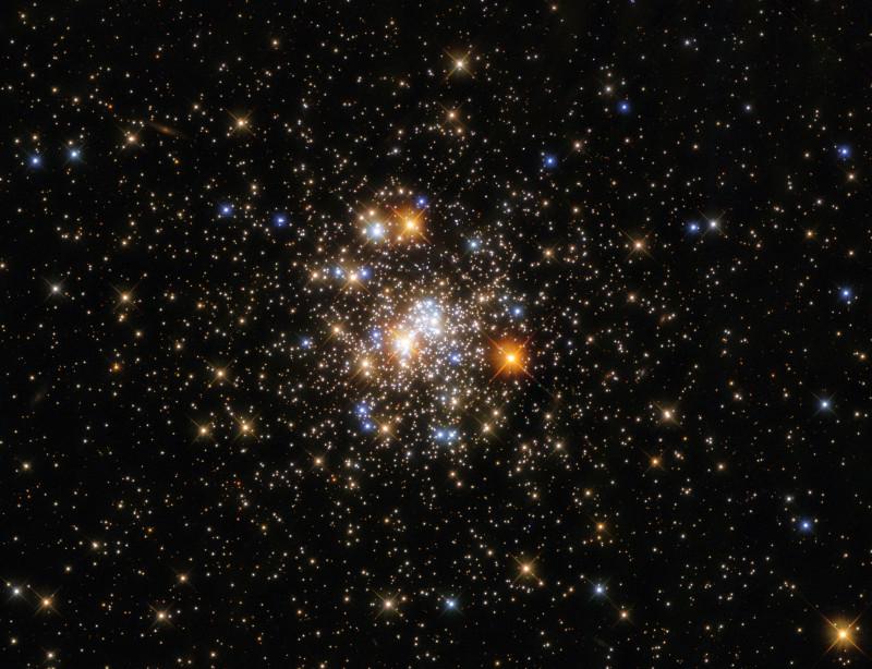 NGC6717, шаровое звёздное скопление в созвездии Стрельца