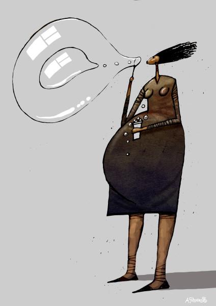 беременная и пузыри3