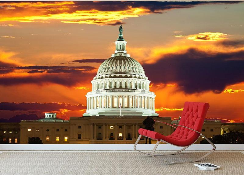United_States_Capitol_Building_Wall_Mural_Wallpaper_b_800x