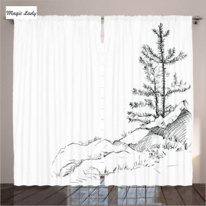 Шторы-Белый-Гостиная-Дерево-Hill-Nature-Снижение-Природа-Сосновый-Трава-Эскизы-Плана-Спальня-Белый-Черный-290x265