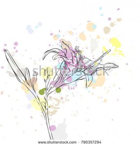 stock-vector-vector-drawing-lily-flower-and-paint-stains-hand-drawn-illustration-790357294.jpg