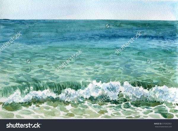 stock-photo-watercolor-sea-waves-at-beach-tidal-bore-hand-drawn-illustration-575092951