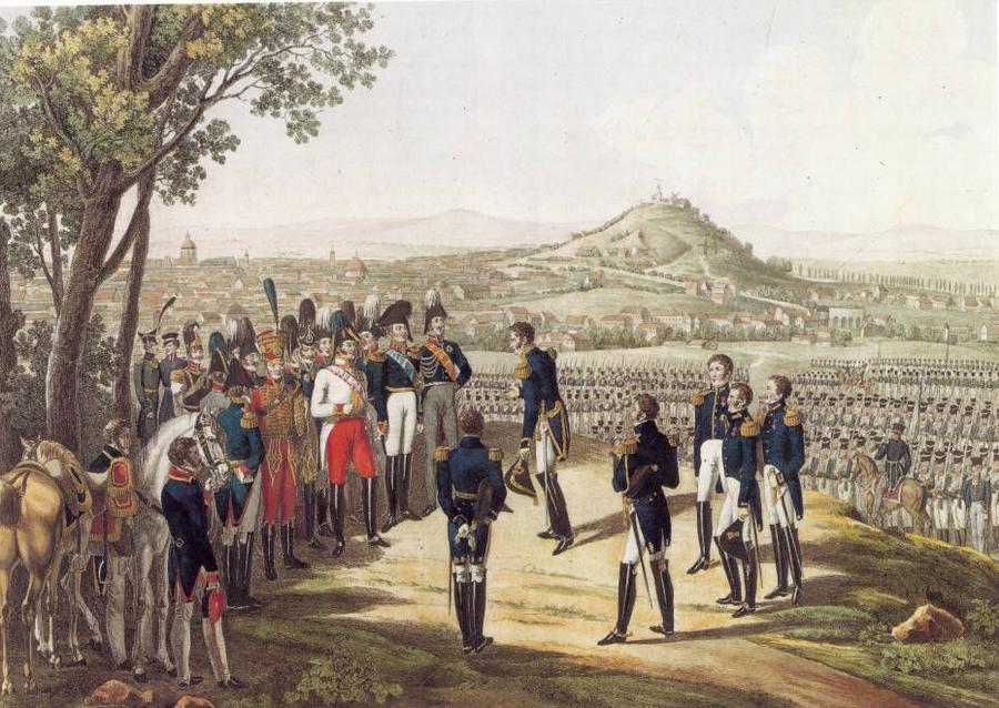 Alexandre 1814 Капитуляция Парижа офорт берлин Ист музей