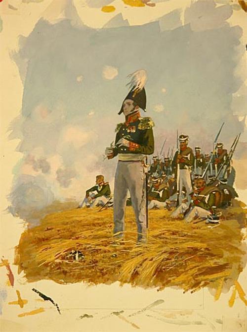Князь Андрей в Бородино 1871-1875 Николаев. Бородинская панорама