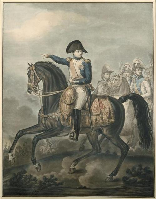 Наполеон 1810 эстамп Ш Ф Г Леваше по ор А Ш О Верне музей Армии