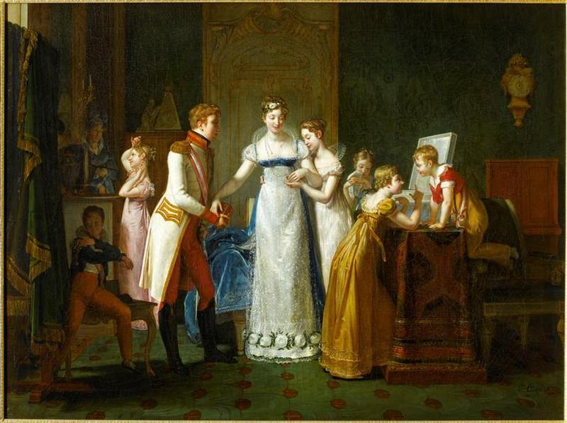01 Прощание МЛ с семьей 13 мар 1810 1812 Полин Озу Auzou МЛ передает бриллианты св матери братьям и сестрам Версаль