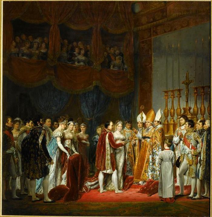 03 Бракосочетание Нап и эрцгерц  МЛ2 апр 1810 в салоне Карре в Лувре 1810 в Ж Руже Rouget Версаль