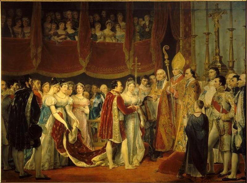 04 Бракосочетание Нап и эрцгерц  МЛ2 апр 1810 в салоне Карре в Лувре 19 в Ж Руже Rouget Версаль2