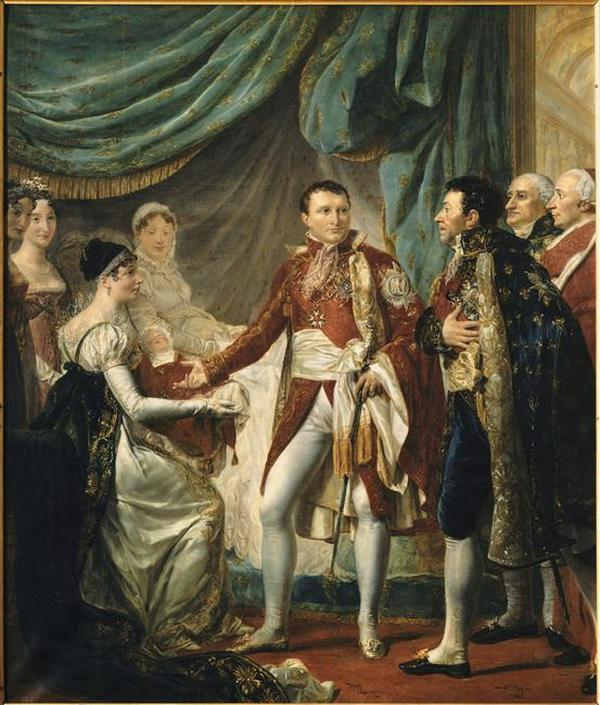 05 Наполеон 1 предствляет короля Римского сановникам империи 20 марта 1811 1812 Жорж Руже Rouget Версаль