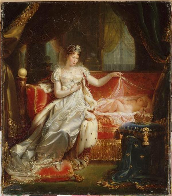 07 Императрица МЛ хранит сон короля Рима 1811 Ж Франк Franque Версаль