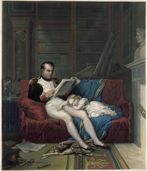 08 Король Римскйи уснул на коленях своего  отца в его кабинете 19 в Мальмезон