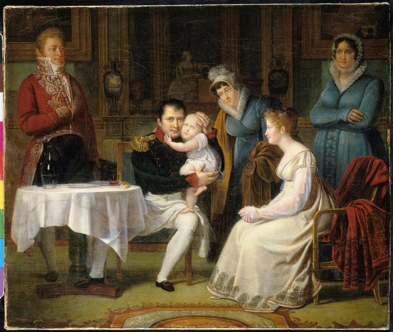 09 Мария Луиза передающая короля Рима на руках во время ужина 1812 А Менжо Фонтенбло