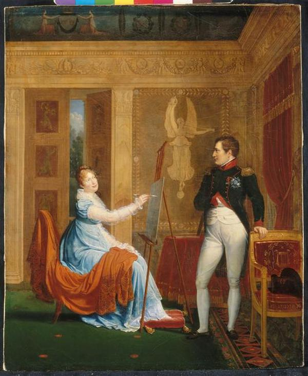 10 Императрица Луиза пишет портрет Наполеона 1810 Александр Менжо Фонтенбло