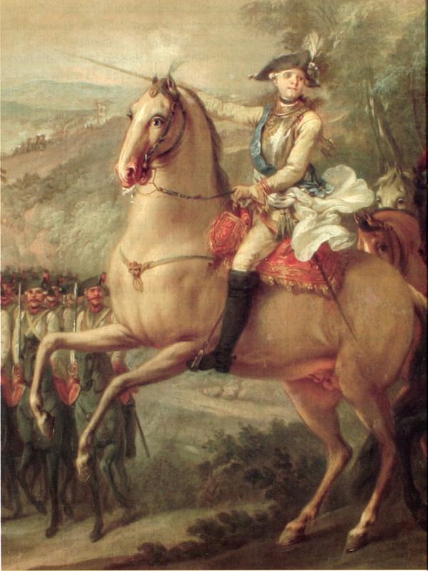 Paul 1778 1779 на маневрах л гв Кирасирского полка Торелли Павловск2