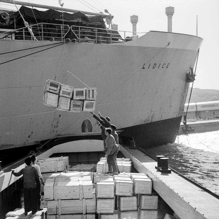Разгрузка Лидис в военном порту Мер эль Кебир апр 1959