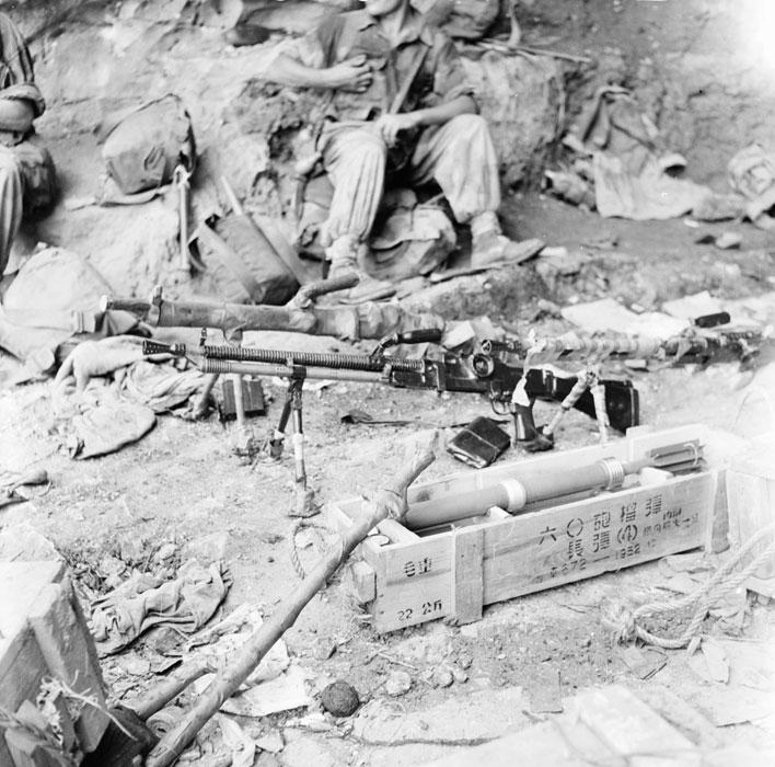 Чешские пулеметы Скода и китайские безоткатные орудия взяты 6 ротой индокит пар
