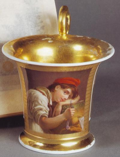 молодой садовник чашка к 1820 нач 1830 х зав Гарднера