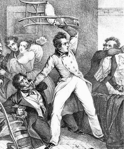 Жизнь игрока 1830-е фр литогр