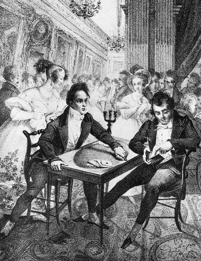 Жизнь игрока 1830-е фр литогр2